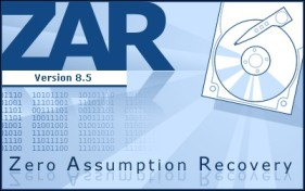 Recover data Zero Assumption Recovery v9.1 Build 4