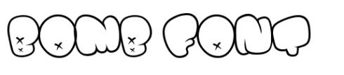 font unik dan lucu bomb_font