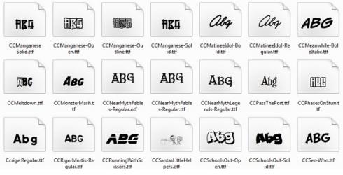 kumpulan font aneh lucu unik