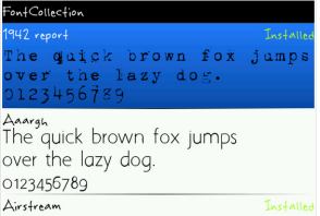 Font blackberry lucu