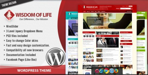 Wordpress premium theme - Wisdom Of Life